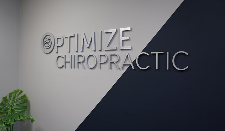 Photo of Optimize Chiropractic 's lobby sign