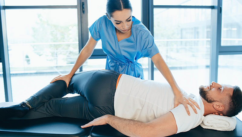 Chiropractic adjustment for sciatica