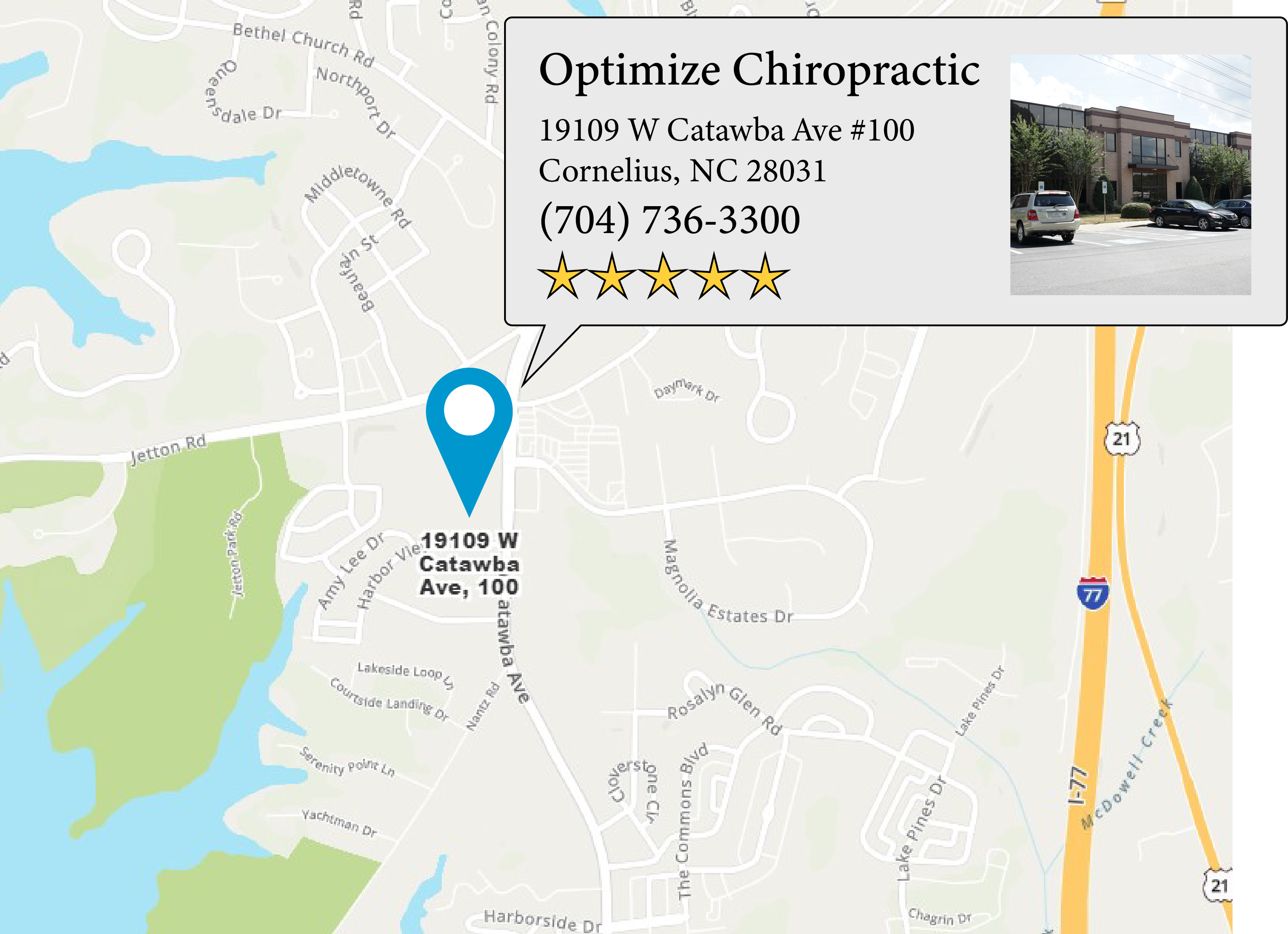 Optimize Chiropractic 's location on google map